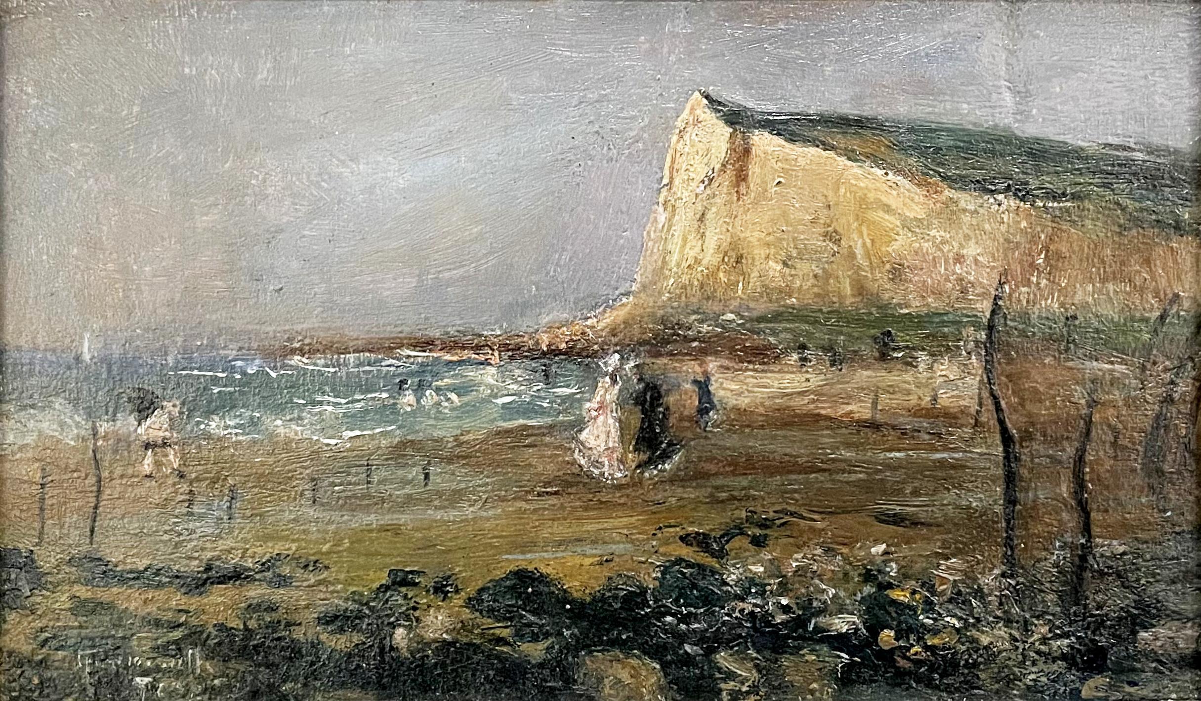 Sur la plage, Le Tréport by Norbert Goeneutte