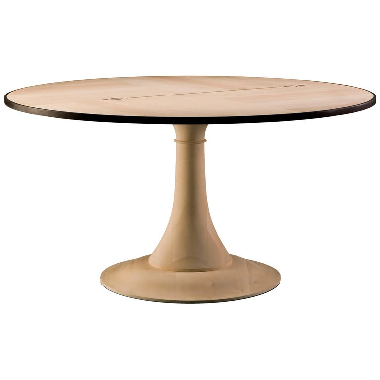 Nord Sud, Round Table with Inlay on Top, by Morelato For Sale