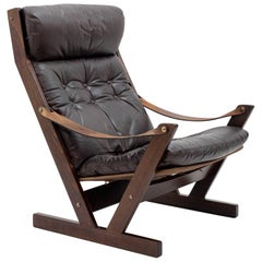 Nordic Leather Lounge Chair