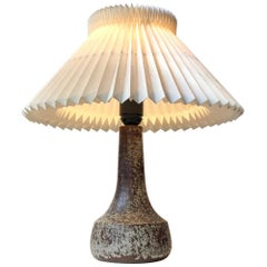 Nordic Modern Ceramic Table Lamp with Earthy Glazes, 1960s