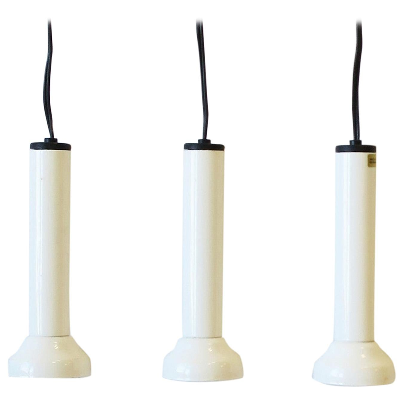 Scandinavian Danish Postmodern White Pendant Lights by NordLux, Set of 3
