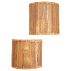 Nori Morimoto Sandblasted Wood Sconces from NOBU, 'New York City'