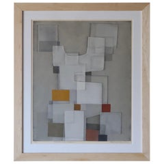 "Norio Azuma ""Construction in Gray #2"" Framed Art"