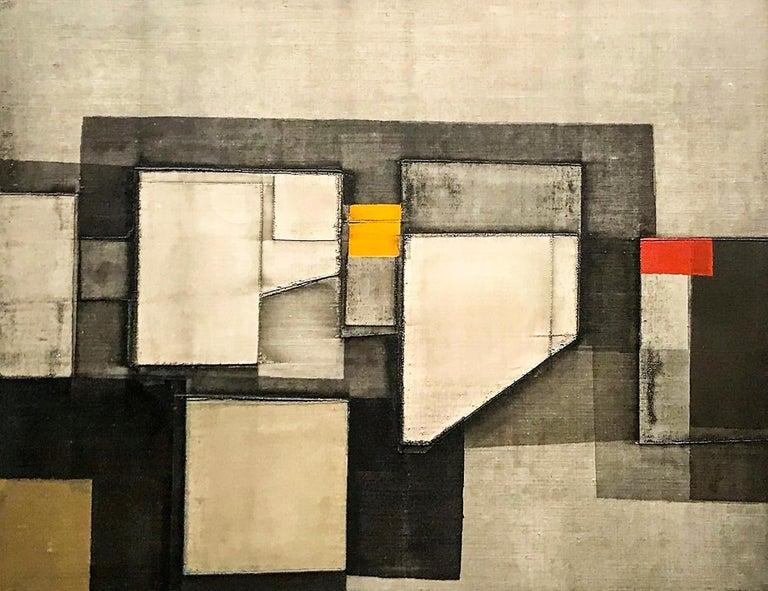 "Norio Azuma ""Impressive Image"", artist proof abstract serigraph on canvas - Print by Norio Azuma"
