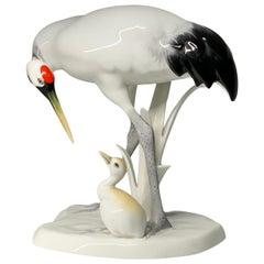 Noritake Hand Painted Porcelain Cranes Figurines