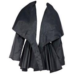 Norma Kamali Black Peplum Coat
