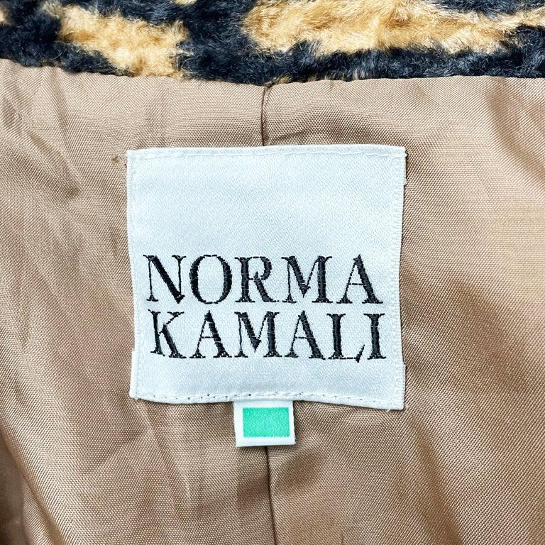 Norma Kamali Leopard or Tiger Print Shawl Collar Jacket Vintage 90s  For Sale 10