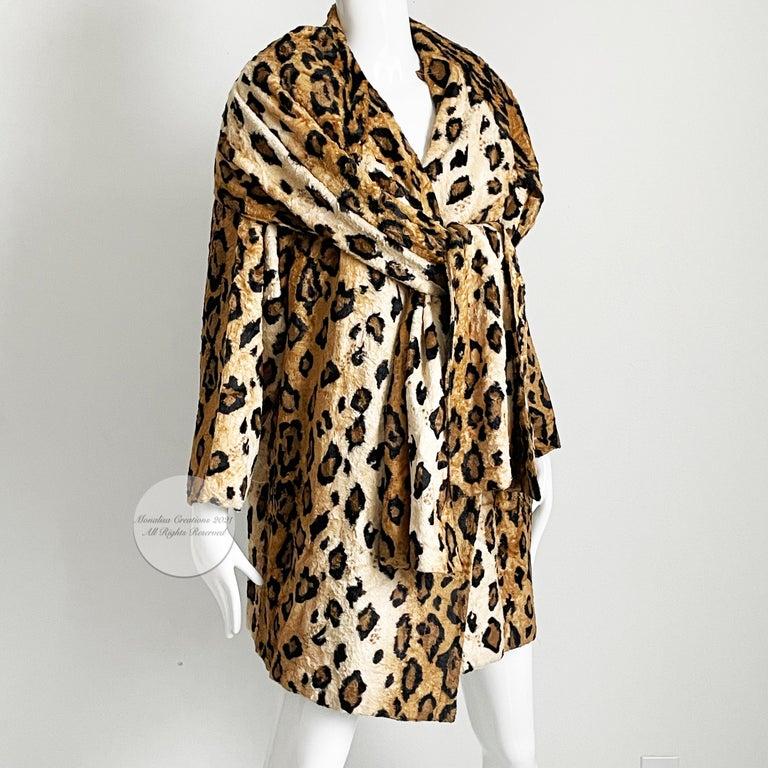 Women's Norma Kamali Leopard or Tiger Print Shawl Collar Jacket Vintage 90s  For Sale