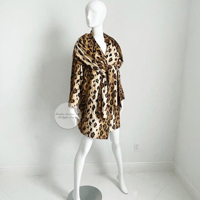 Norma Kamali Leopard or Tiger Print Shawl Collar Jacket Vintage 90s  For Sale 1