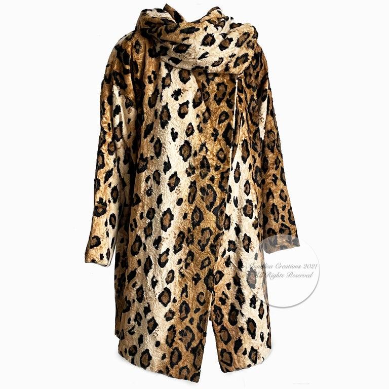 Norma Kamali Leopard or Tiger Print Shawl Collar Jacket Vintage 90s  For Sale 2