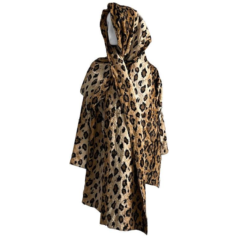 Norma Kamali Leopard or Tiger Print Shawl Collar Jacket Vintage 90s  For Sale