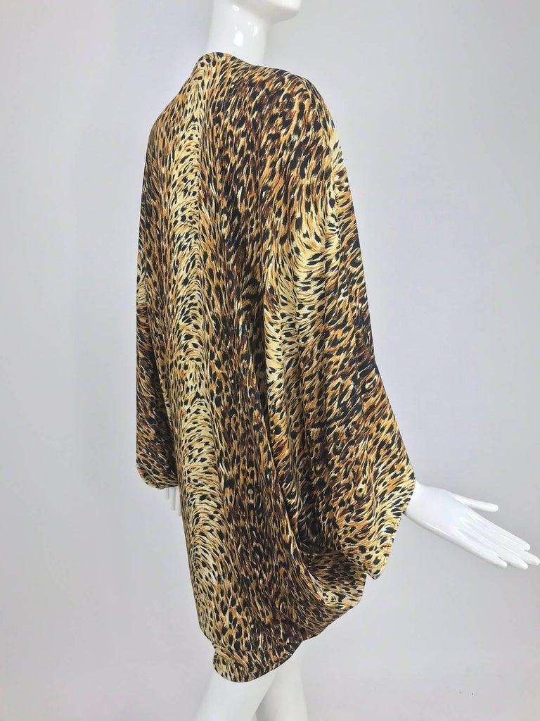 Norma Kamali OMO leopard print cocoon jacket 1970s For Sale 5
