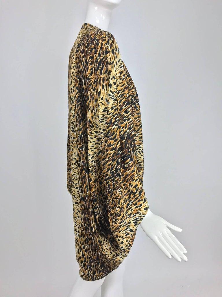 Norma Kamali OMO leopard print cocoon jacket 1970s For Sale 6