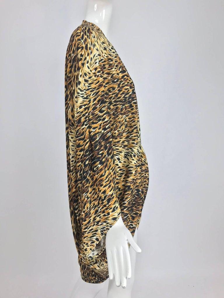 Norma Kamali OMO leopard print cocoon jacket 1970s For Sale 7