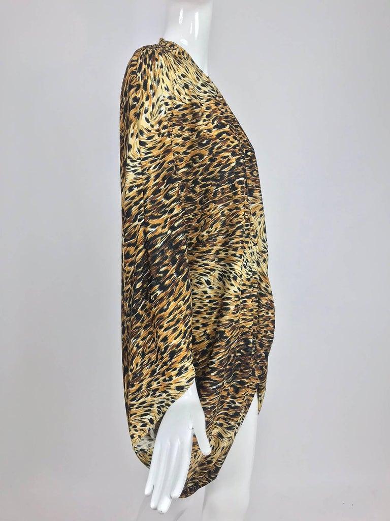 Norma Kamali OMO leopard print cocoon jacket 1970s For Sale 8