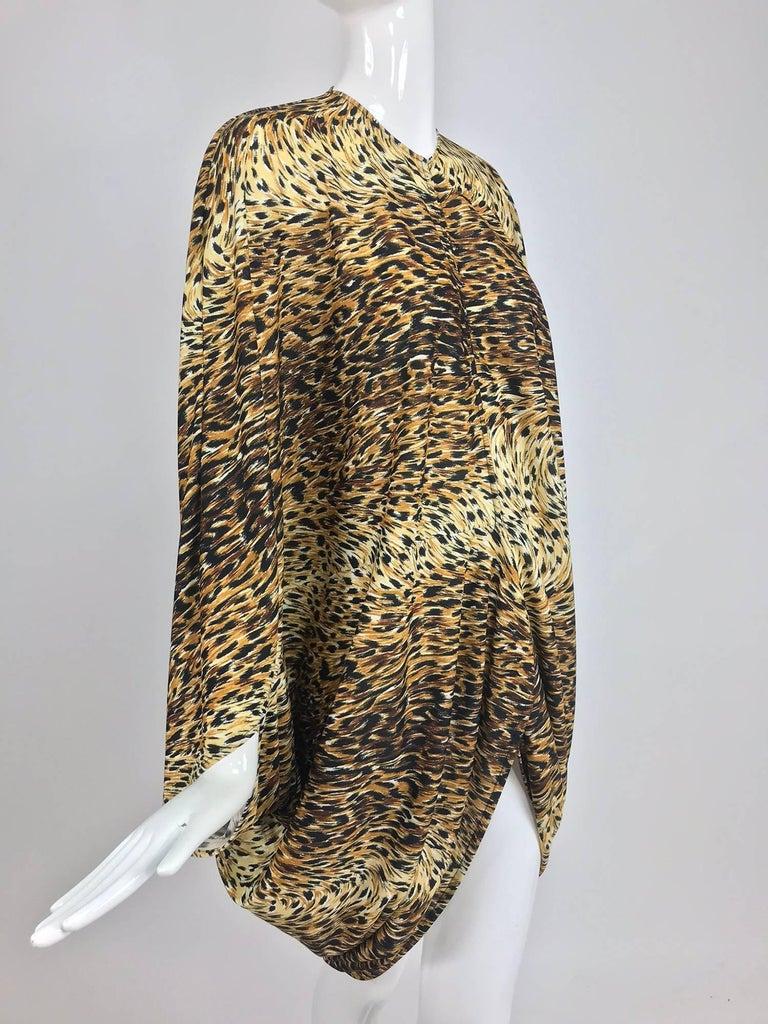 Norma Kamali OMO leopard print cocoon jacket 1970s For Sale 9