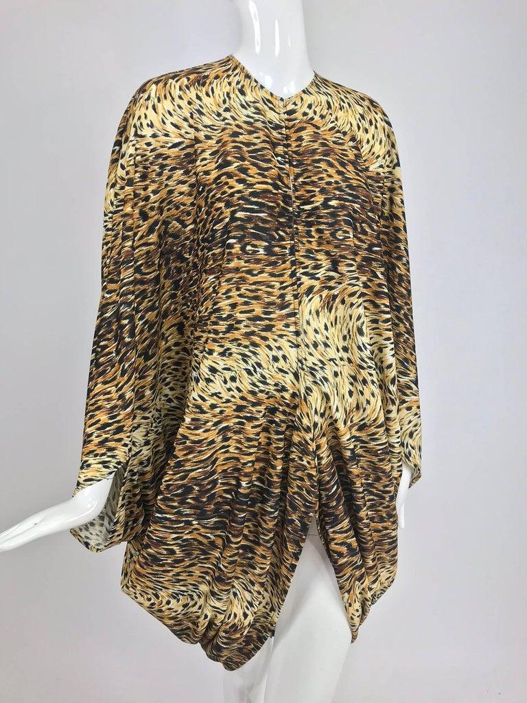 Norma Kamali OMO leopard print cocoon jacket 1970s For Sale 10