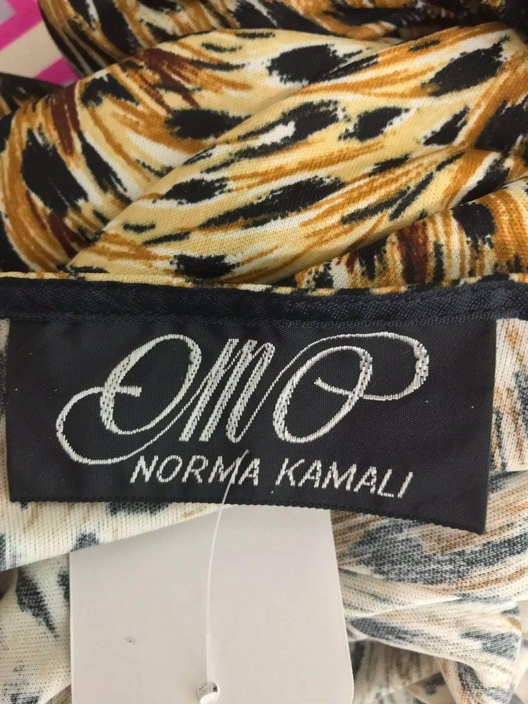 Norma Kamali OMO leopard print cocoon jacket 1970s For Sale 11