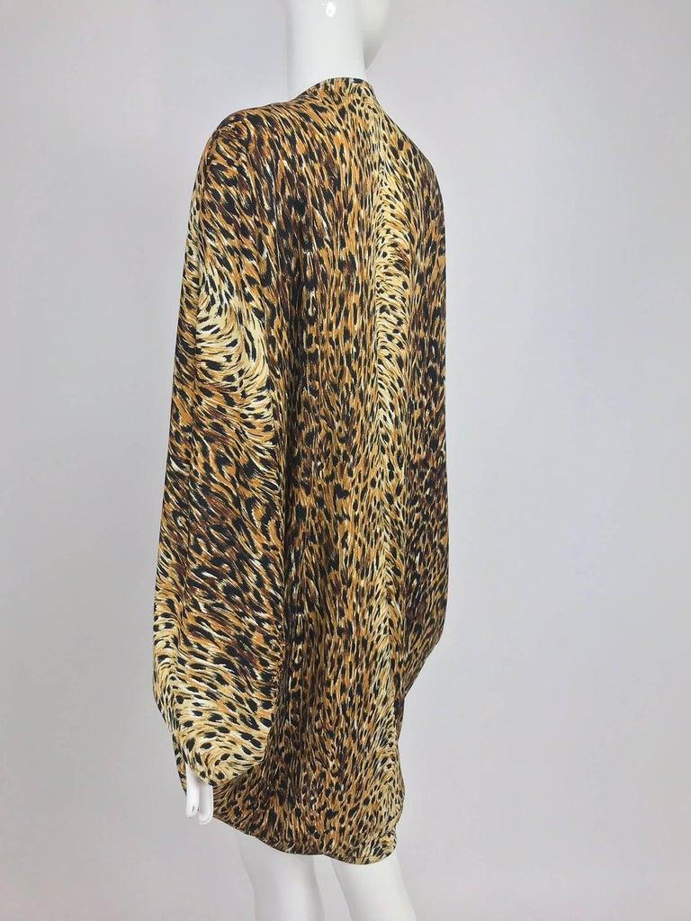 Women's Norma Kamali OMO leopard print cocoon jacket 1970s For Sale