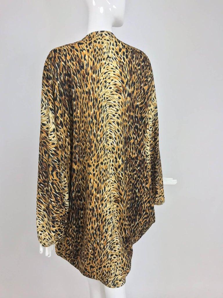 Norma Kamali OMO leopard print cocoon jacket 1970s For Sale 1