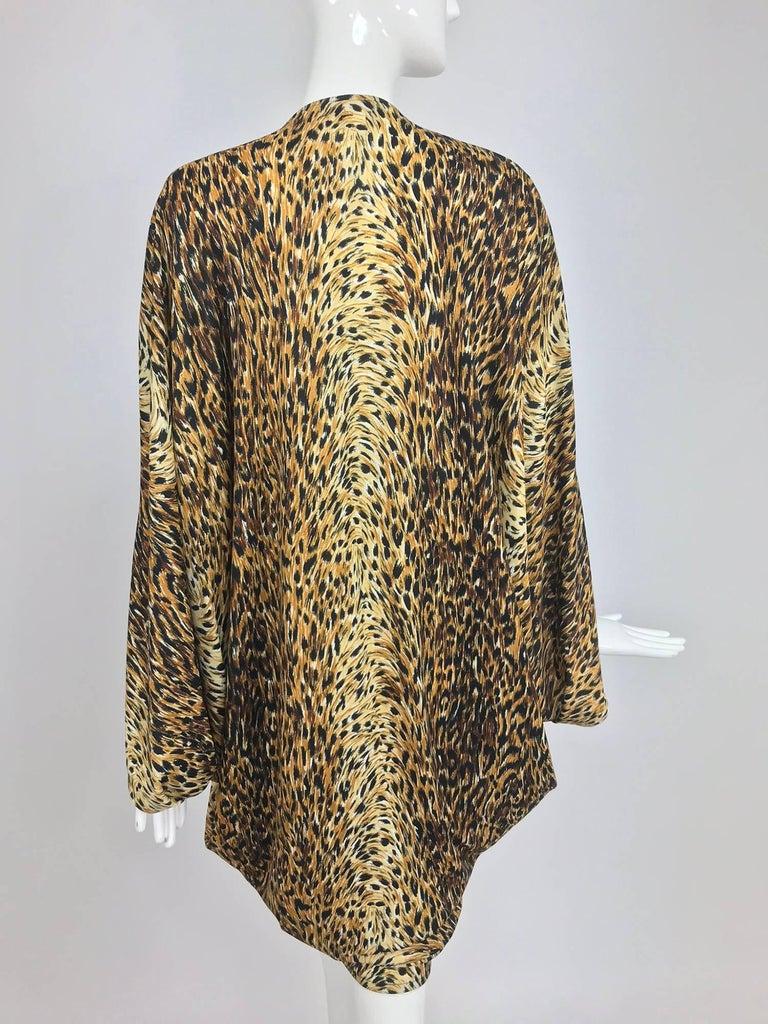 Norma Kamali OMO leopard print cocoon jacket 1970s For Sale 2