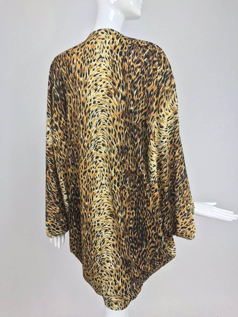 Norma Kamali OMO leopard print cocoon jacket 1970s For Sale 3
