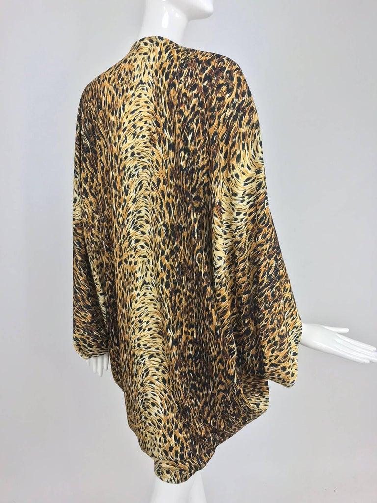 Norma Kamali OMO leopard print cocoon jacket 1970s For Sale 4
