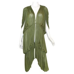 Norma Kamali OMO Olive Green Draped Dress