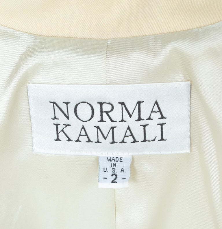 Norma Kamali Winter White Bar Jacket Peplum Blazer – US 2, 1980s For Sale 9