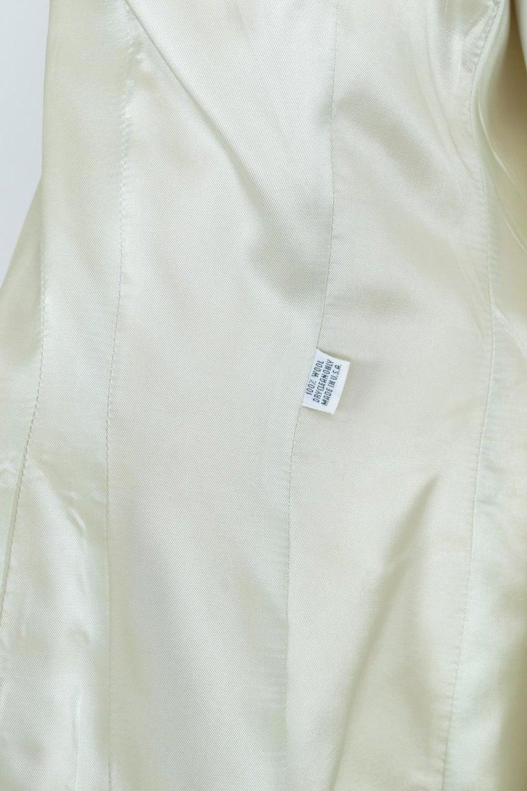 Norma Kamali Winter White Bar Jacket Peplum Blazer – US 2, 1980s For Sale 10