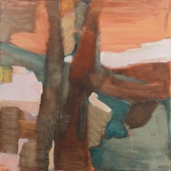 'Winter Solstice', Large Bay Area Abstract Oil, Marin, California, Woman artist
