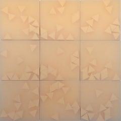Norma Márquez Orozco, The Sun, 2016, Translucent Paper, 30 x 30, Minimalist