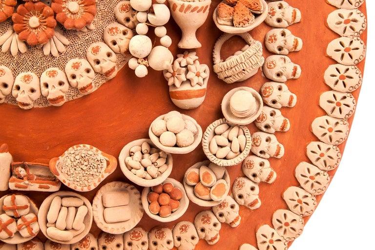 Catrina con Ofrenda de Muertos / Ceramics Mexican Folk Art Clay For Sale 1