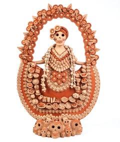 Catrina con Ofrenda de Muertos / Ceramics Mexican Folk Art Clay