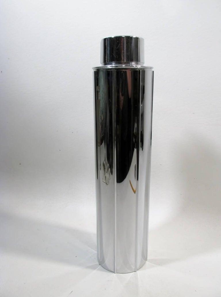 Machine Age Norman Bel Geddes Manhattan Art Deco Skyscraper Cocktail Shaker Revere For Sale