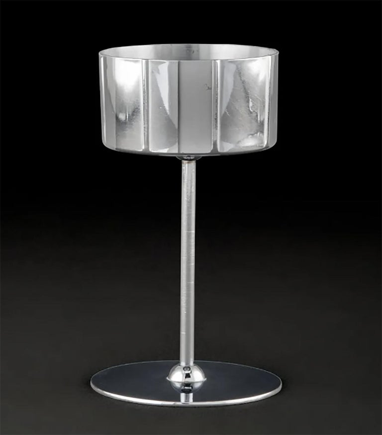 Plated Norman Bel Geddes Manhattan Skyscraper Cocktail Set, an Icon of Revere Art Deco For Sale