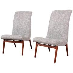 Stupendous Norman Bel Geddes Mid Century Modern Slipper Chair Newly Theyellowbook Wood Chair Design Ideas Theyellowbookinfo