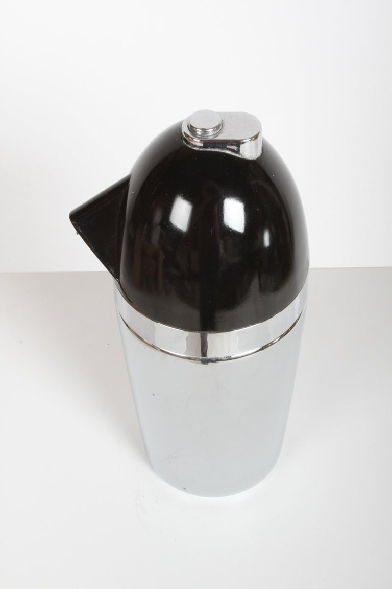 Steel Norman Bel Geddes Soda King Rechargeable Syphon circa 1938, Unused For Sale