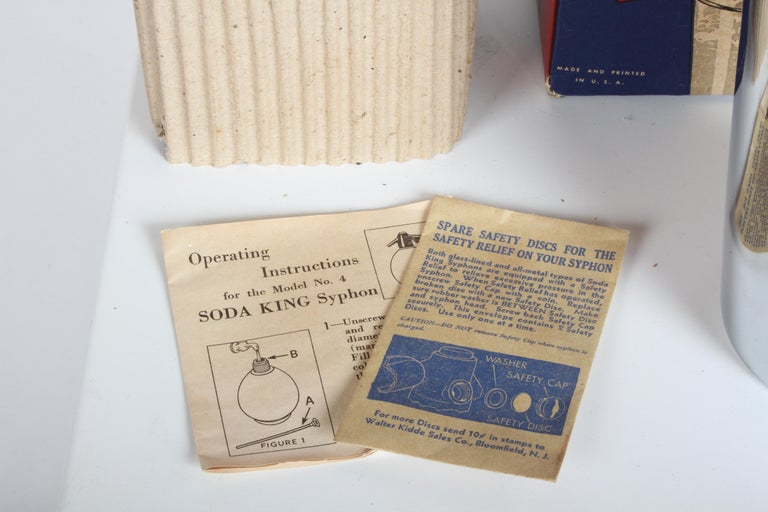 Norman Bel Geddes Soda King Rechargeable Syphon circa 1938, Unused For Sale 1