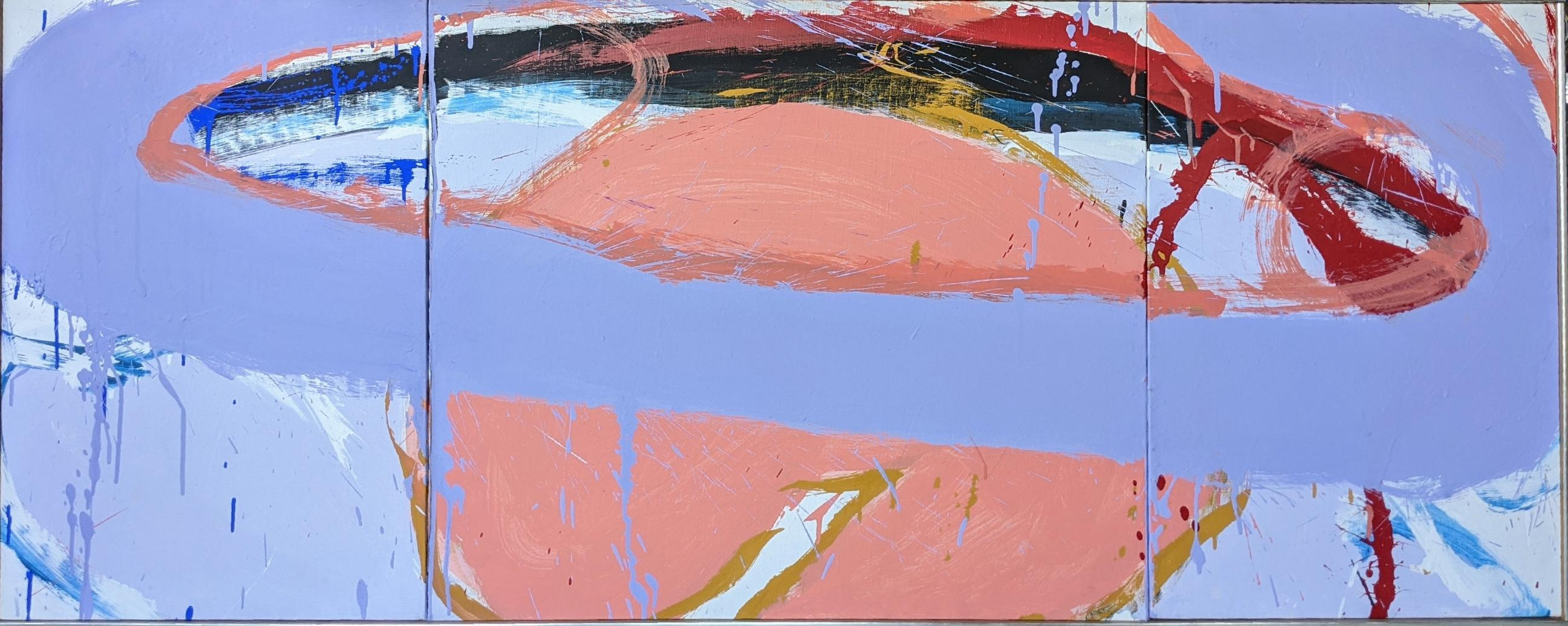 """""""Untitled,"""" Norman Bluhm, Abstract Expressionist Triptych, Mid-Century Modern"""
