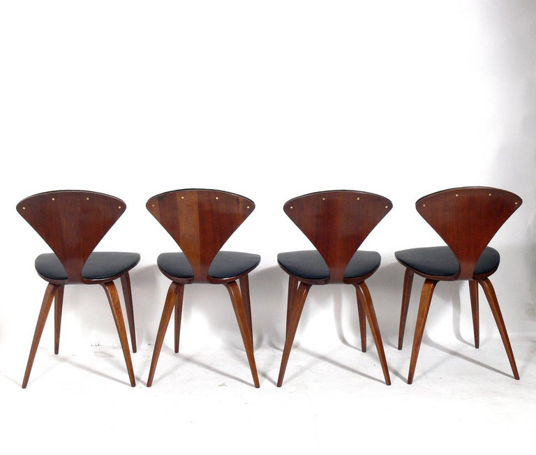 Mid-Century Modern Norman Cherner Dining Chairs, Set of Eight For Sale