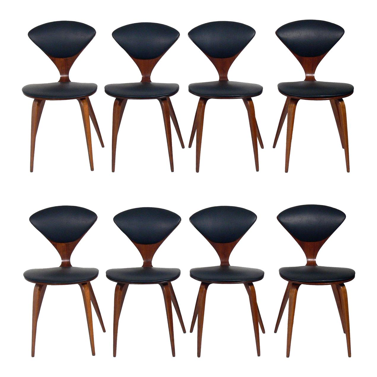 Norman Cherner Dining Chairs, Set of Eight