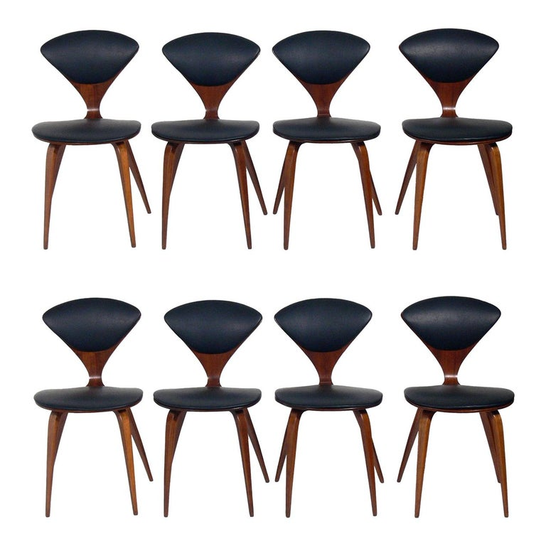 Norman Cherner Dining Chairs, Set of Eight For Sale