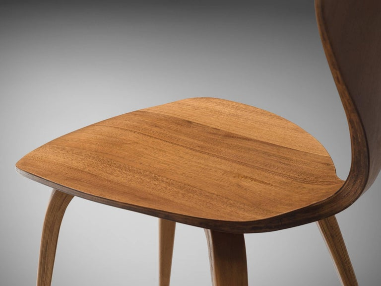 Norman Cherner for Plycraft Four Walnut Dining Chairs For Sale 2