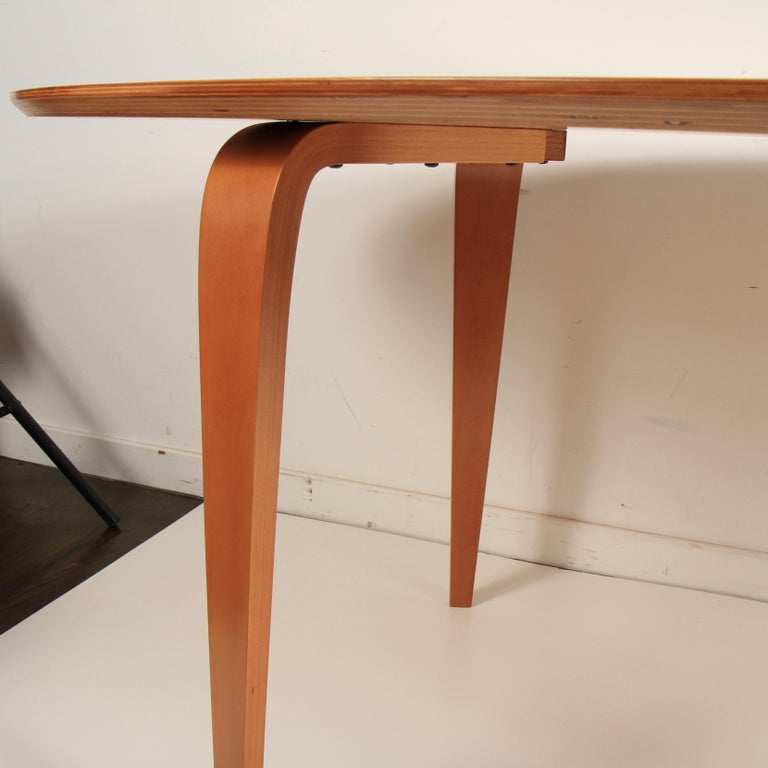 Mid-Century Modern Norman Cherner Oval Dining Table For Sale