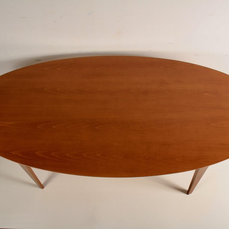 Contemporary Norman Cherner Oval Dining Table For Sale