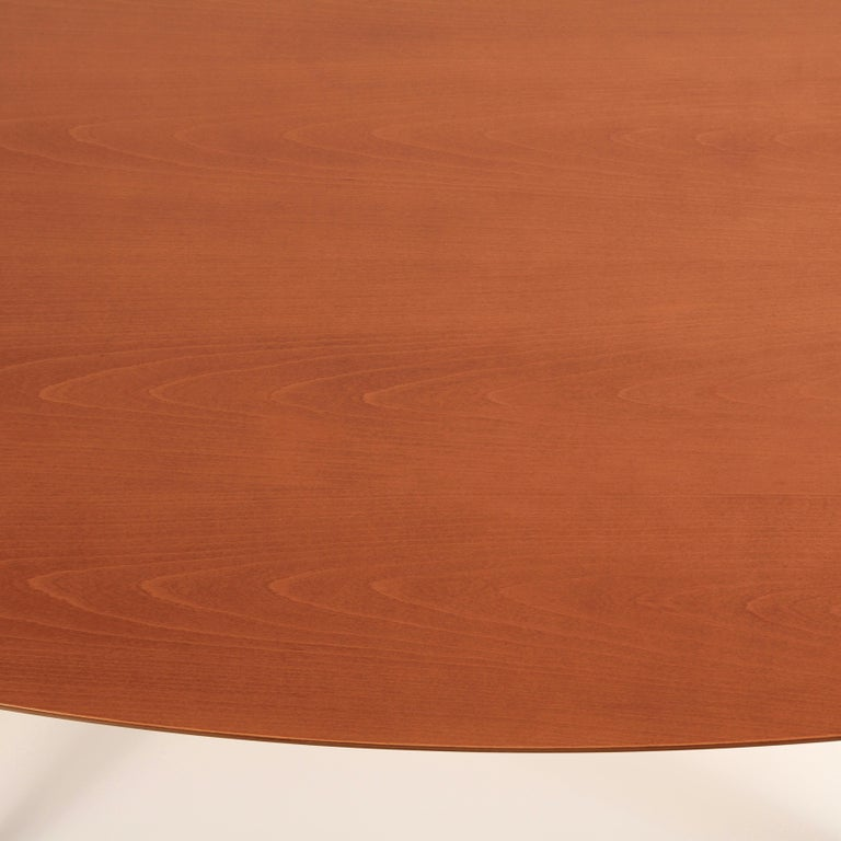 Birch Norman Cherner Oval Dining Table For Sale