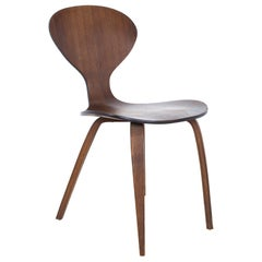 Norman Cherner Style Mid Century Bentwood Dining Side Chair