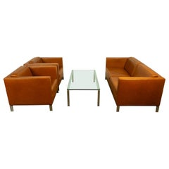 Norman Foster Living Room Set in Tan Leather for Walter Knoll, 2000s