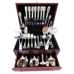 Norman Hammered by Shreve Sterling Silver Flatware Set Service 87 Pieces Dinner